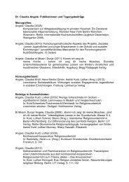 Publikationen und Tagungsbeiträge: Dr - Pädagogische Hochschule ...