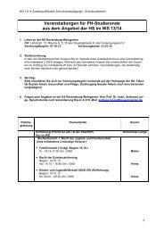 Lehrangebot HRW WS 2013/14