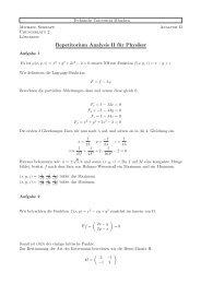 Repetitorium Analysis II für Physiker - Technische Universität München