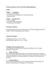 Studienordnung und Modulübersicht