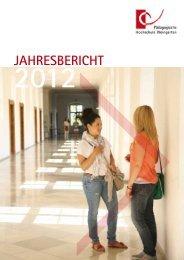 Jahresbericht 2012 - Pädagogische Hochschule Weingarten