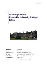 Bericht 5 - Pädagogische Hochschule Weingarten