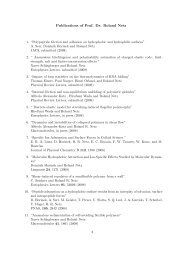 Publications of Prof. Dr. Roland Netz