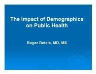The Impact of Demographics on Public Health - UCLA School of ...