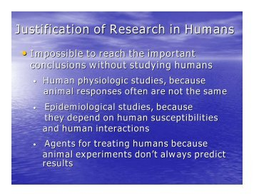 Justification of Research in Humans - UCLA School of Public Health
