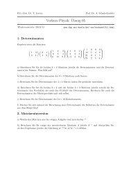 Vorkurs Physik:¨Ubung 05