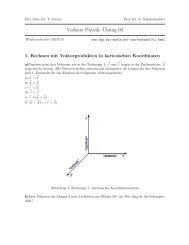 Vorkurs Physik:¨Ubung 03