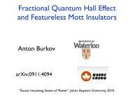 Fractional Quantum Hall Effect and Featureless Mott Insulators