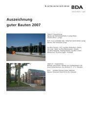 Auszeichnung guter Bauten 2007 - Dhp-sennestadt.de