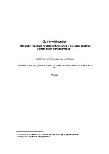 Die Vierte Dimension - am Institut für Finanzwirtschaft, Banken und ...