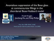 Anomalous suppression of the Bose glass at commensurate fillings ...