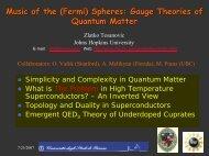 Music of the (Fermi) Spheres - Johns Hopkins University