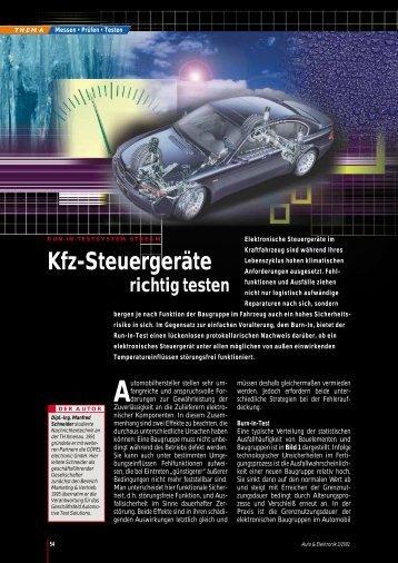 Kfz-Steuergeräte - All-electronics.de