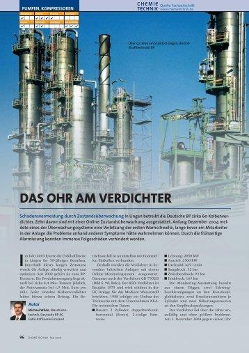 DAS OHR AM VERDICHTER - Chemie Technik