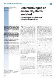 Untersuchungen an einem CO2 -Ka¨lte- kreislauf - Plastverarbeiter
