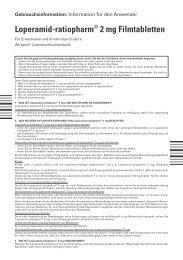 Loperamid-ratiopharm® 2 mg Filmtabletten - pharma-fuchs.de
