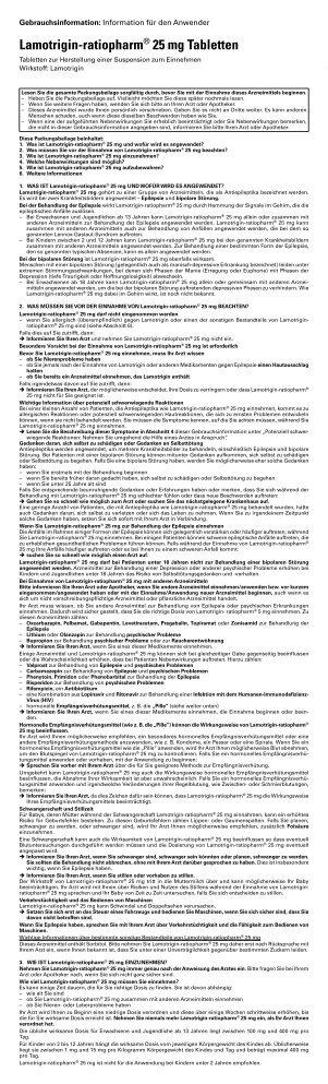 Lamotrigin-ratiopharm® 25 mg Tabletten - pharma-fuchs.de