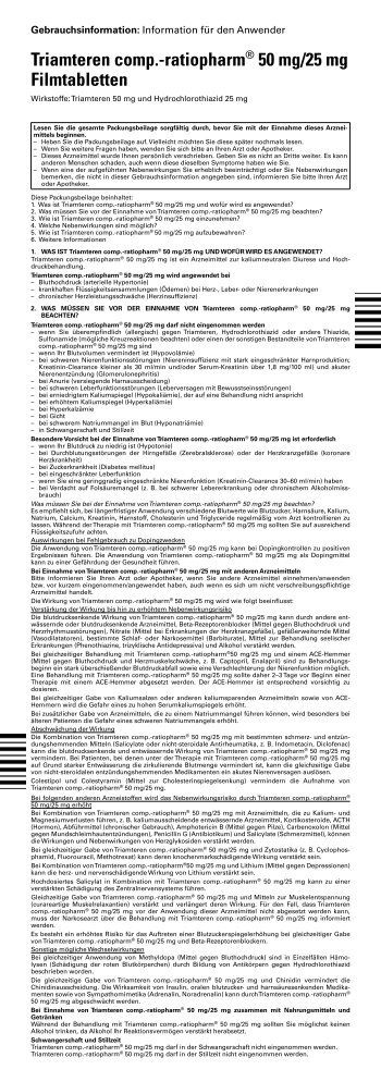 Triamteren comp.-ratiopharm® 50 mg/25 mg ... - pharma-fuchs.de