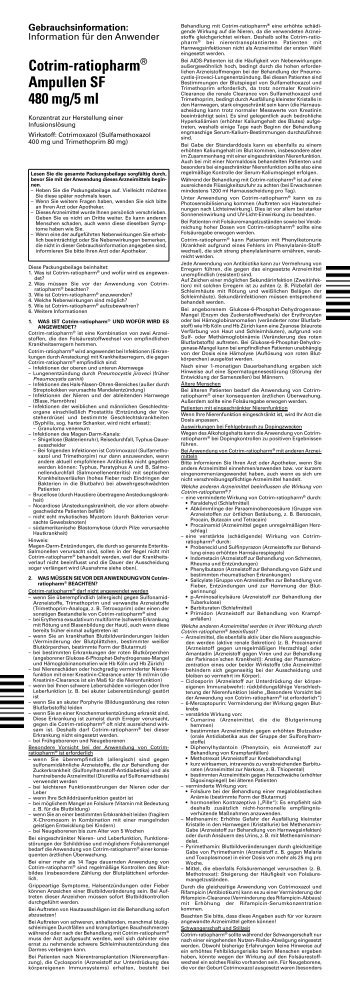 Cotrim-ratiopharm® Ampullen SF 480 mg/5 ml - pharma-fuchs.de