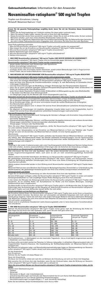 Gebrauchsinformation: Information Für Den ... - pharma-fuchs.de