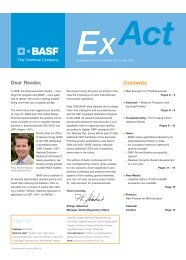 Contents Imprint - Pharma Ingredients & Services BASF