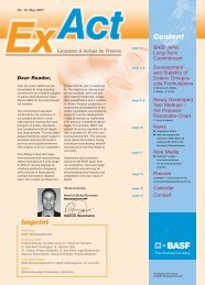 ExAct No. 18 - Pharma Ingredients & Services BASF