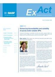 ExAct 23 October 2009 - Pharma Ingredients & Services BASF