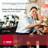 Kollicoat® IR Coating Systems Create Your Own Colors. - Pharma ...