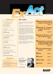 ExAct No. 8 - Pharma Ingredients & Services BASF