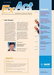 ExAct No. 14 - Pharma Ingredients & Services BASF