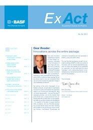 Dear Reader: Innovations across the entire package - Pharma ...