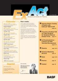 ExAct No. 6 - Pharma Ingredients & Services BASF