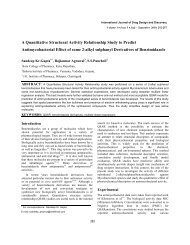 A Quantitative Structural Activity Relationship Study to Predict ...