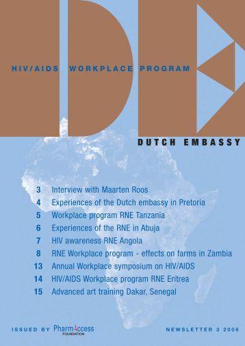 Newsletter 3, December 2006 - PharmAccess Foundation