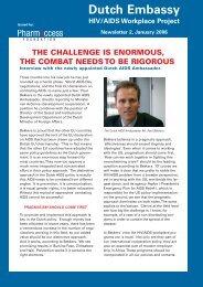 Newsletter 2, January 2006 - PharmAccess Foundation
