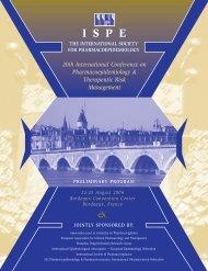 ISPE Bordeaux Prelim Prog - International Society for ...
