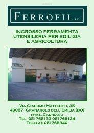 Catalogo Ferrofil 20/05/2014