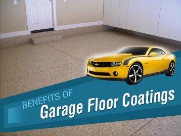 Garage Floor Coating Benefits