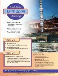 ISPE 2009 - International Society for Pharmacoepidemiology