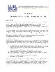 Invitation - International Society for Pharmacoepidemiology