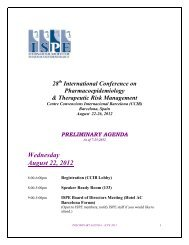 Herings - International Society for Pharmacoepidemiology