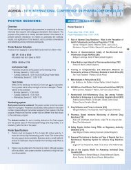 agenda - 18th international conference on pharmacoepidemiology