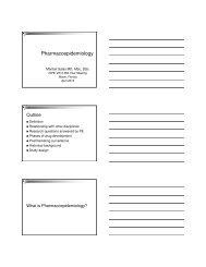 Introduction to Pharmacoepidemiology, Maribel Salas - International ...