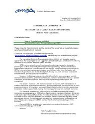 ISPE Comments on ENCePP Code of Conduct for Independence ...