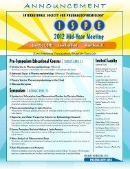 I PS E - International Society for Pharmacoepidemiology