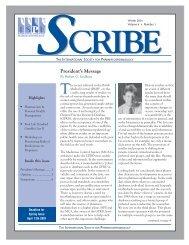 Winter 2001 - International Society for Pharmacoepidemiology