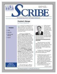 Sping/Summer 2003 - International Society for Pharmacoepidemiology