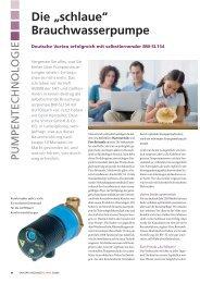 """Die """"schlaue"""" Brauchwasserpumpe - Deutsche Vortex GmbH & Co. KG"""