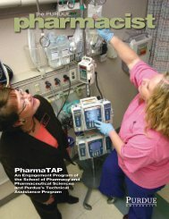 The Purdue Pharmacist, Spring 2008 - Purdue College of Pharmacy ...