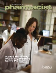 The Purdue Pharmacist, Fall/Winter 2007 - Purdue College of ...
